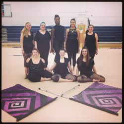 Aren't we cute #me #guard #winterguard #indoor #ub #colorguard