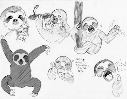 I made a sloth for no raisin.