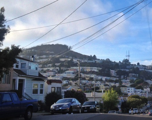 Sutro peeking over the hill, from Sunnyside