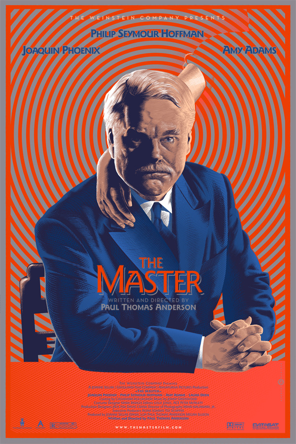 "film-dot-com:  MONDO POSTER: ""The Master""  the folks at Mondo are trotting out funky posters for all of this year's Best Picture nominees. they've previewed a couple, but the rest will roll out during the show. of the first three, ""The Master"" is the one i dug the most. FILM.COM"