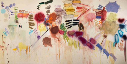 cavetocanvas:  Joan Snyder, Smashed Strokes Hope, 1971