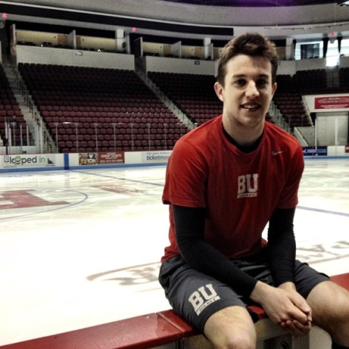 BostonBruinsTV caught up with #Bruins prospect & current BU Terrier Matt Grzelcyk at Agganis Arena.