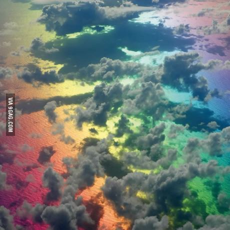 9gag:  Above the rainbow