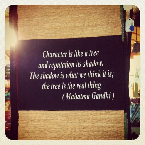 Character is like a tree and reputation is its shadow. The shadow is what we think it is; the tree is the real thing. (at Portland Japanese Garden)