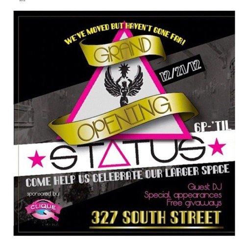 Make sure you stop down t the #GrandOpening event for the new @status252 shop located 1 block up at 327 South street #Philly to shop the newest and best #Streetwear to hit the shelf.. #DNTN #JOYRICH #FREEKUGLY #MOTIVATION #ACOMPLICE … Etc .. The event tonite with @djaktive spinning on the 1 & 2 s - #Holiday Giveaways and all