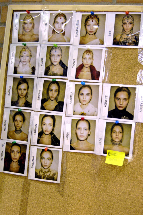 lapeste:  Backstage at Alexander McQueen, Fall 2008