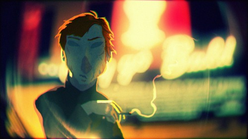 A quick style frame from the animated short I'm working on at the moment at the RCA. Seems to be heading in roughly the direction I want it to.