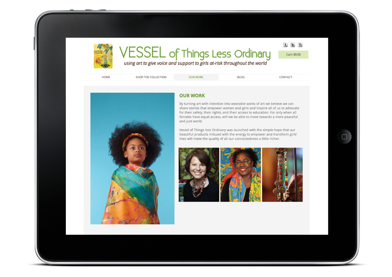 ​VōTLO Couture: Vessel of Things Less Ordinary Web Design