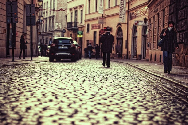 | ♕ |  Morning alley in Krakow  | by © Erik Witsoe