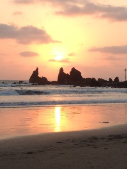 indiarising:  beautiful sunset tonight at Arambol Beach