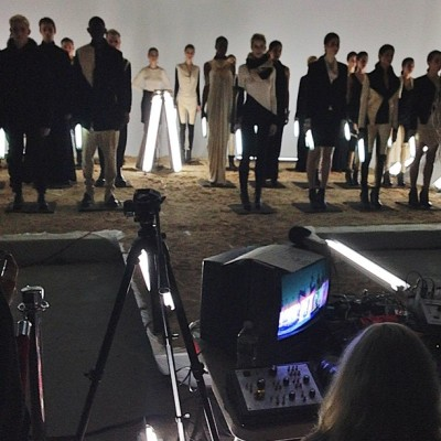 Video and light instillation at @odd_NYC's first presentation. #NYFW