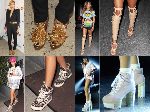 We're super envious of Rihanna's amazing shoe collection, aren't you?