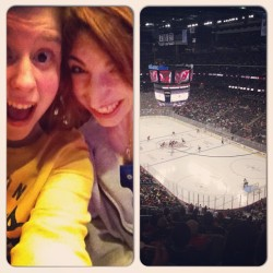 Bruins/devils game with the best friend! @kaybosxo
