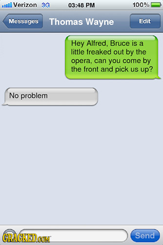 cracked:  23 Famous Movie Plots Easily Solved by Text Messages