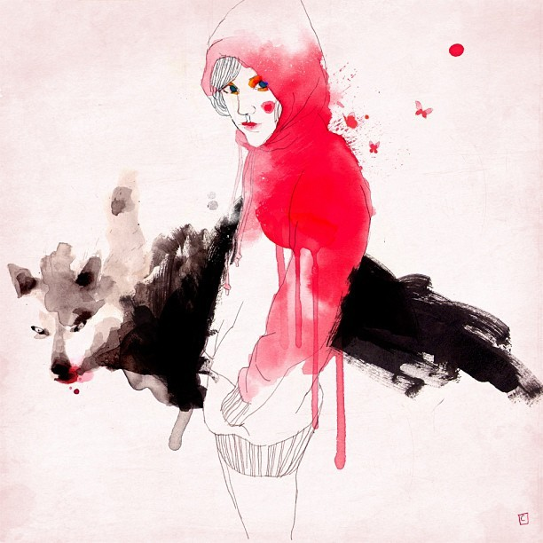 conradrosetart:  Red Riding Hood / Caperucita Roja