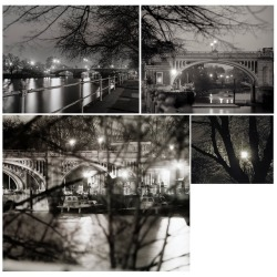 From the archive, Richmond Lock and Twickenham Bridge, taken in 1997. From Drawing Dark Waters.