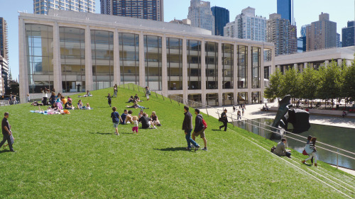 Lincoln Center's Laurie M. Tisch Illumination Lawn is now open for the season!(Photo: Mark Bussell, 2010)