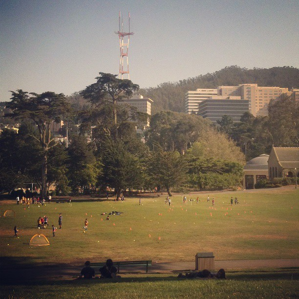Loving San Fran (at Hippie Hill)
