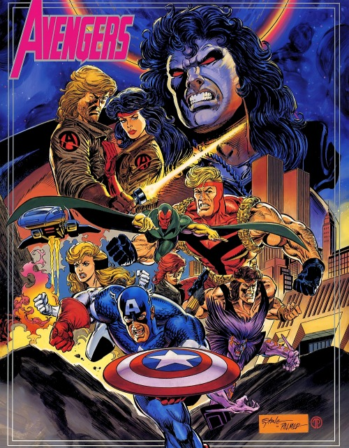 Poster insert by Steve Epting & Tom Palmer for Avengers #375, 1994.