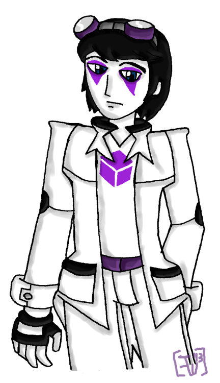 A fankid I created for a Homestuck RP in City of Heroes, which, unfortunately ended its run a couple months ago, though the group he's RPed in is still moving ahead elsewhere. First real time drawing him that I really liked, I suppose. [[MORE]] The Prince of Void in his session (as well as his hero pseudonym), he was led into hero work by a mysterious benefactor who also just happened to send him a copy of SBURB. He runs into a group of other kids involved in the game thanks to his benefactor's nudging, and that's where things really start out for him, soon running into not only other human kids, but displaced trolls as well. Eventually, his benefactor (revealed to be the session's version of Jack Noir, of all people) gives him clues to his place of origin and he becomes dead-set on investigating. He winds up finding the meteor he came on, which has turned into a base by Arachnos, one of the setting's many villain factions; and in the process finds out the unsettling fact that they were going to try to train him into a weapon from an infant onwards, and that his own parents, or at least his father, are members. He, unfortunately, gets discovered and captured, and then is modified and mind-controlled into a weapon named Venom. Meanwhile, on Derse, this causes the awakening of his dreamself, which causes a violent calamity that breaks the moon from its chain (Noir had been anticipating this all along, using it as a distraction so he could assassinate the Black Queen, which ultimately ended in failure and apparent death in an explosion set up by the Courtyard Droll, who had sided with the queen this time around). He goes into hiding on his planet, the Land of Lakes and Motion and hasn't been seen since… Eventually, Venom will probably get in a fight with his former friends while Dream!Hami continues to hide out on his planet until he's actually found…