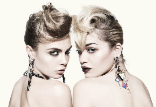 Cara Delevingne and Rita Ora by Rankin