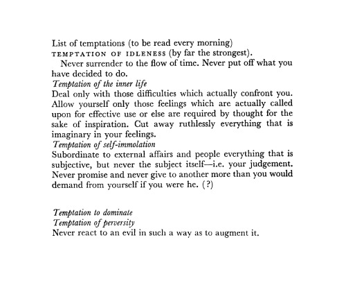 downinyonforest:from Simone Weil's Pre-War Notebook