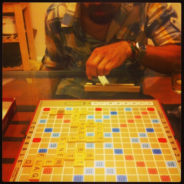 Scrabble dat scrabble #scrabble #nightin #chill