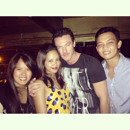 Met Luke Evans (from Fast and the Furious) last night! What up?! 🙌