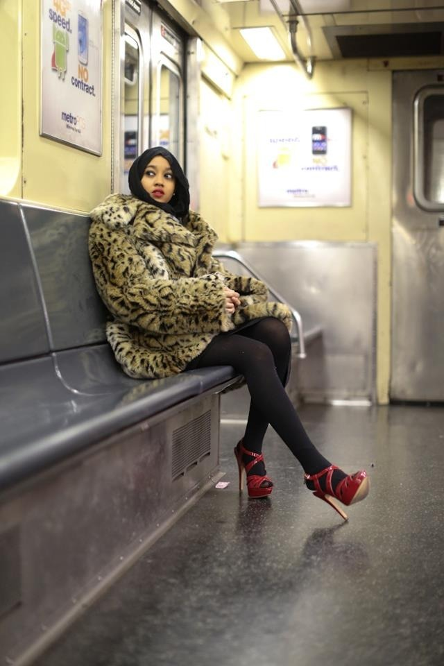 humansofnewyork:  Seen in the subway.