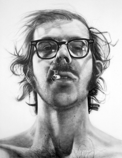 likeafieldmouse:  Chuck Close - Big Self Portrait (1967-68) - Acrylic on canvas