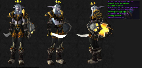 Transmog Challenge 18: Entry 13  Color Theme for Transmog Challenge : Gold, Black, and White  Plate, Warrior, Protection Spec.
