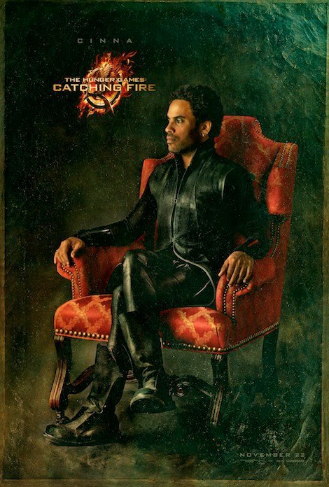 Exclusive The Hunger Games: Catching Fire Portrait  The spotlight's on Lenny Kravitz's Cinna…