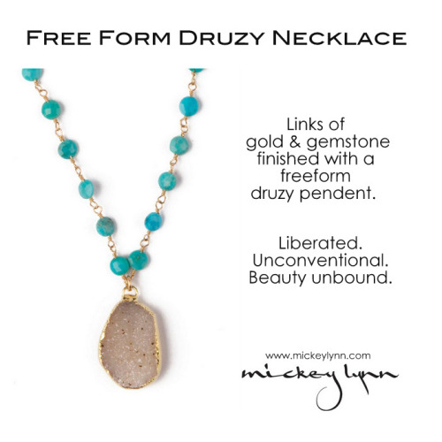 Mickey's Pick: The Free Form Druzy & Gemstone Necklace.Find it here »> http://bit.ly/ZXZ7pA