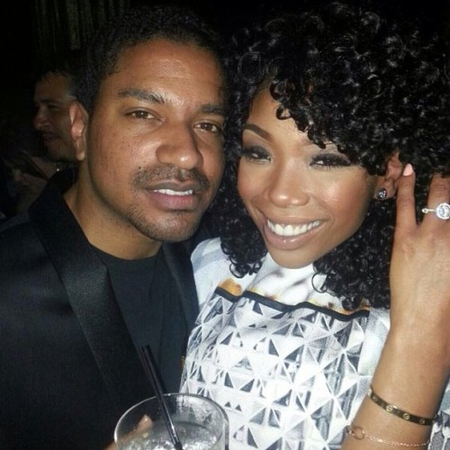 Brandy was at the Lavo in Las Vegas where she performed for Dick Clark's New Year's Rockin' Eve. She wearing that rock.