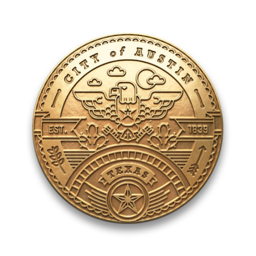 Kendrick Kidd did some typically excellent 'city seals' for Texas Monthly's Cities Issue. It's the seemingly simple but incredibly detailed line work that gets me — check out the Dallas one and how the shaking hands intersect with the corners of the banknote. Mind blown.