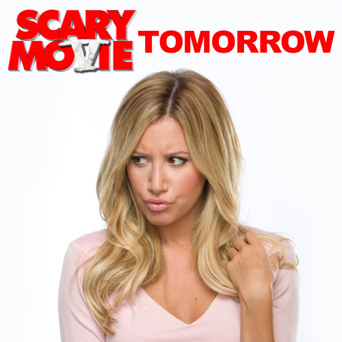 Only one day to go! LIKE and SHARE if you're excited to see Ashley Tisdale in Scary Movie 5, and be sure to get your tickets in advance on Fandango: http://bit.ly/ZLLM1M
