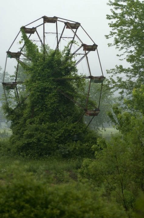 heartliketwigs:  Creepy Photos of Abandoned Amusement Parks (via themetapicture.com)