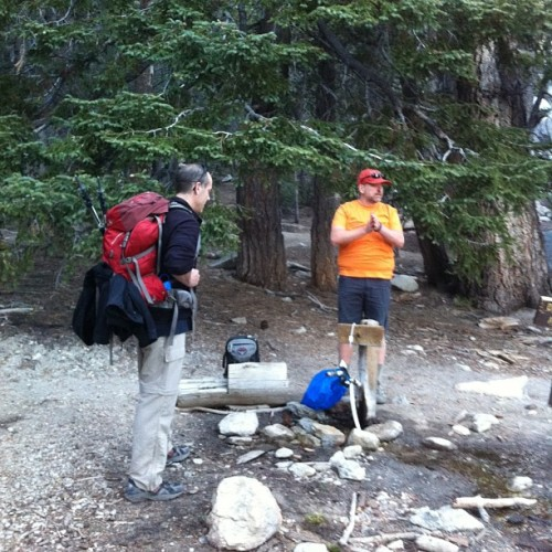 Grabbing a bucket of water to fill up before we head back up to basecamp #backpacking www.eddyizm.com #hiking #sanjacinto #mountains #nature #gooutside
