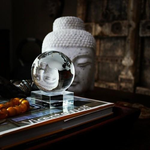 #olegcassini #crystalglobe from @marshalls #fabfound #reflection #buddha #coffeetable #globe #crystal #decor #interiordesign #interiordecor #mystyle #me