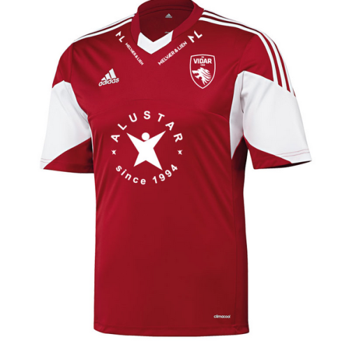 Shirt of the day:  FK Vidar, Adidas, 2013 Thirty year plan #2043 Here are some other kits you might like: FC Basel, Adidas, 2013 Cape Verde, Tepa, 2013