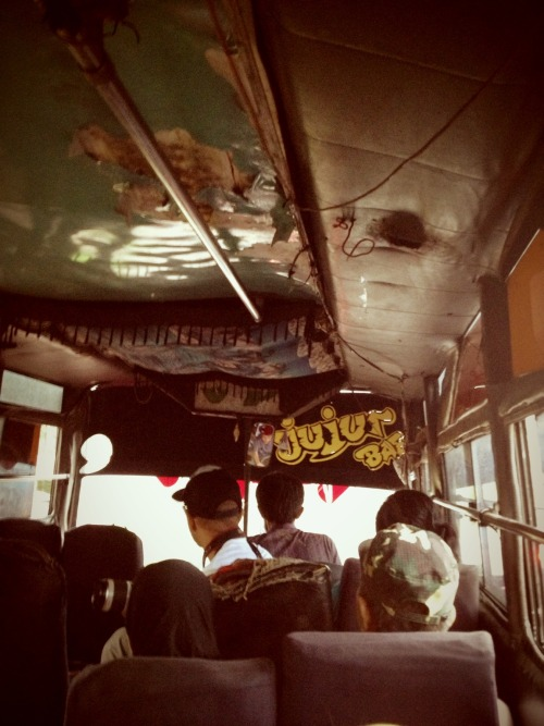 Jujur bae.. di bus menuju terminal karya agung palembang with - krijos and Mang Ade – View on Path.
