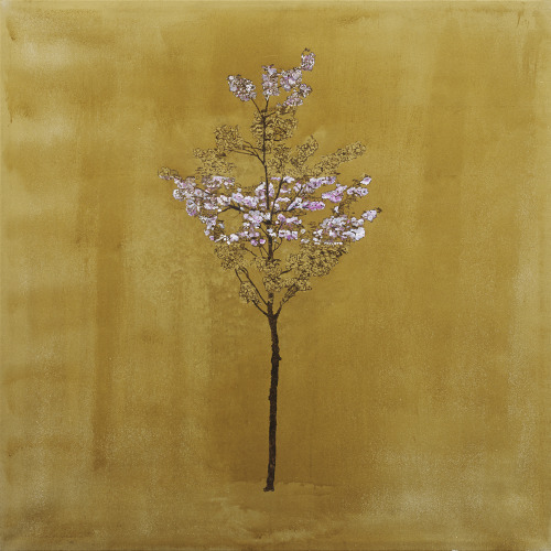 Tree of the Golden Blossom Oil and Acrylic on Canvas, 80 x 80 cm Javier Marchán, 2006 Copyrighted image, all rights reserved