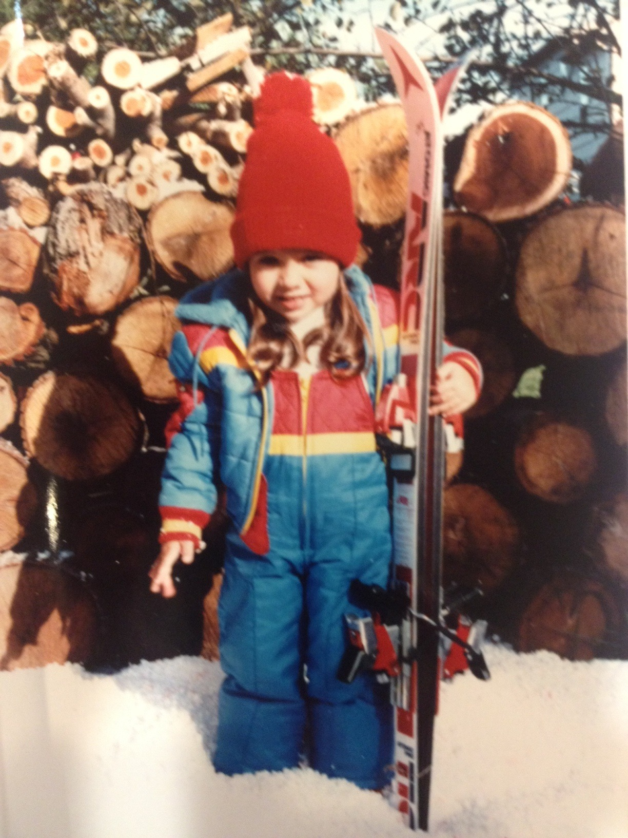 I was once a very tiny skier.