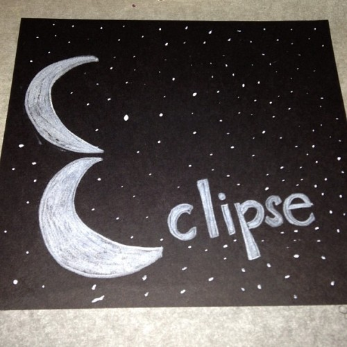 Eclipse. Graphic design I made awhile ago…my design for my logo will be similar to this. #artnerd #moons