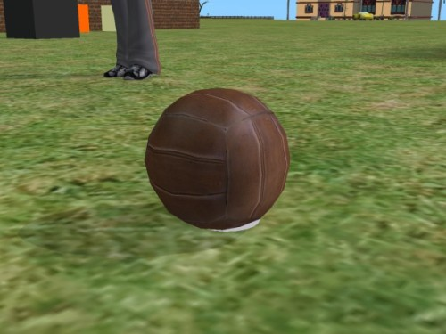 Another Bioshock Infinite conversion: the medicine ball from Battleship Bay as a default football.  I need to look at the shine on it, but I'm exhausted so I'm heading to bed.  It will wait until the morning.