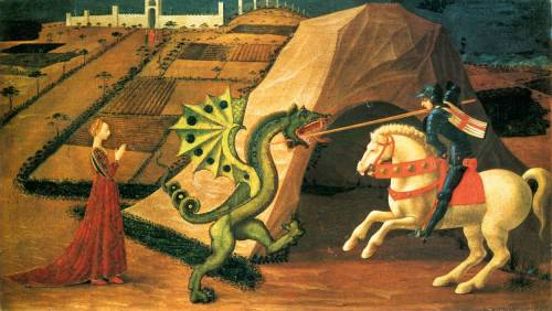Paolo Uccello Saint George and the Dragon c. 1458-1460 Musée Jacquemart-André, Paris