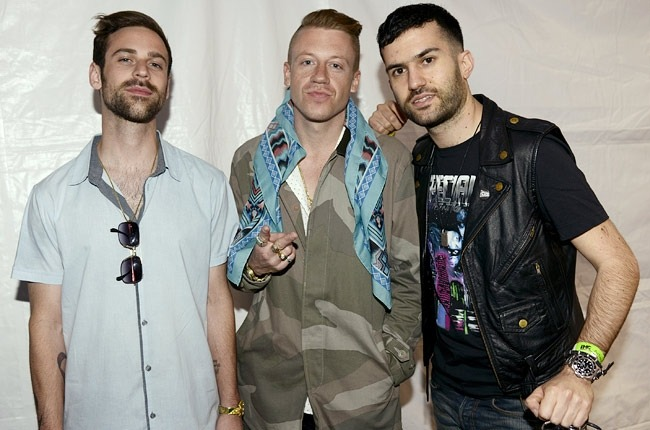 ON-THE-GO @ THE MTVU WOODIE AWARDS: MACKLEMORE + RYAN LEWIS + DJ A-TRAK  All very talented guys! xo @rozOonThego photo: getty