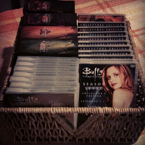 Every season of #Buffy & #Angel on #DVD,courtesy of a lovely lady I work with,it's #marathon time