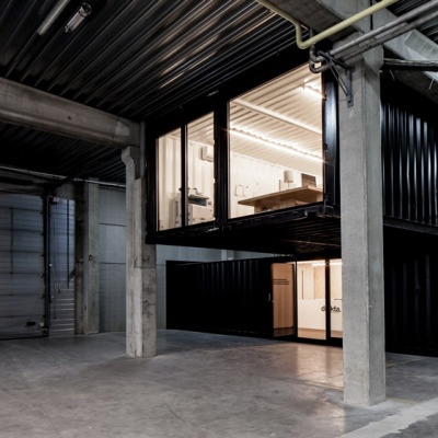 theblackworkshop:  Five AM's Shipping Container Offices