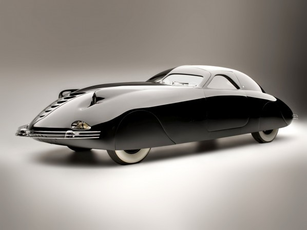"""The Phantom Corsair is a  six-passenger coupé prototype automobile built in 1938. Designer Rust Heinz planned to put the car into limited production. However, Heinz's death in a car accident in July 1939 ended those plans, leaving the prototype Corsair as the only one ever built."" - Wikipedia (via Phantom Corsair - Retronaut)"